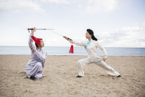 Aiping Cheng, Shirley Chock, tai chi sword