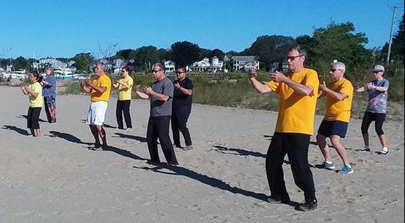 Aiping Tai Chi Center beach tai chi class