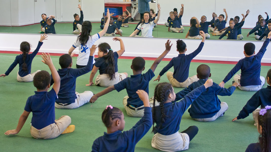Aiping Tai Chi Center Orange CT, Shirley Chock, community wellness, Elm City College Prep, school field trip